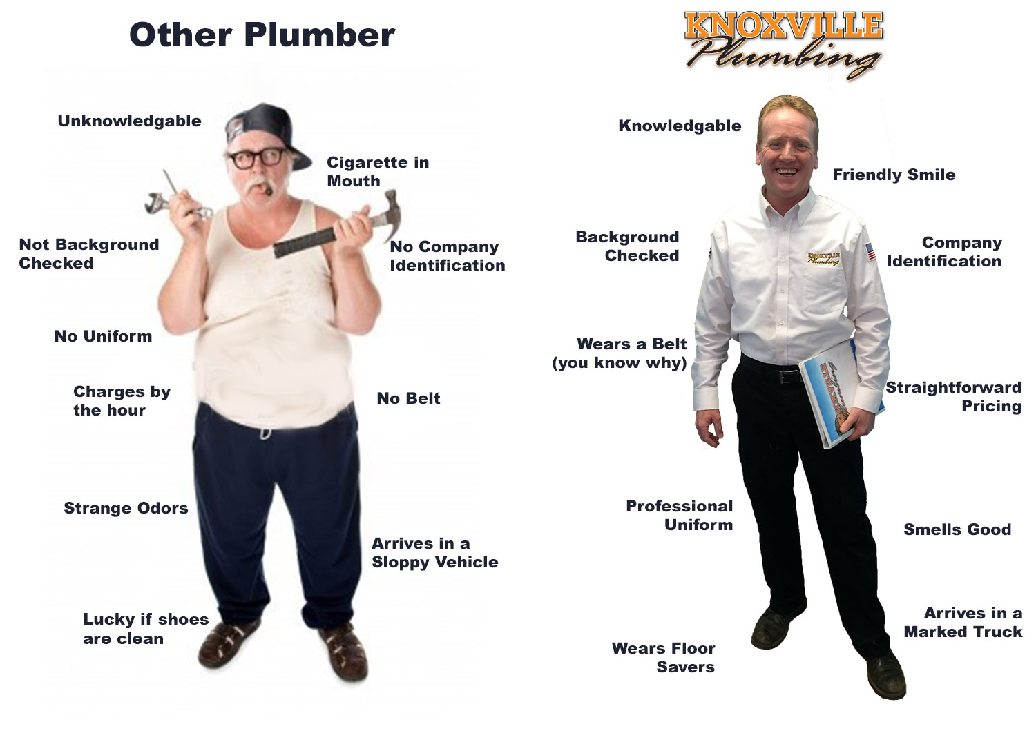 Knoxville Plumber-Comparrason